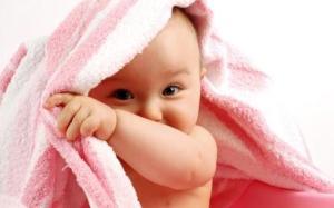 Cute Baby Boy Under Towel Wide HD Wallpaper