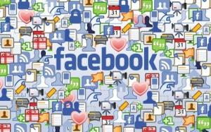 Facebook Icons Wide HD Wallpaper