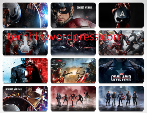 CAPTAIN AMERICA: CIVIL WAR Theme For Windows 7, 8, 8.1 and 10 32 bit / 64 bit